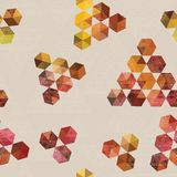 Geometric pattern of hexagons and triangles Stock Photos