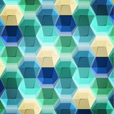 Geometric pattern of hexagons. Vector multicolored geometric pattern of hexagons Stock Images