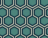 Geometric seamless pattern - honeycomb . royalty free illustration