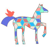 Geometric pattern horse Royalty Free Stock Image