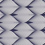 Geometric pattern. linear roof tiling or fish scale shapes motif or leaf leaves and flower. Pattern is on swatches panel Stock Photo