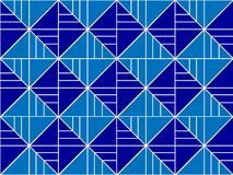Geometric pattern with lines and squares. Background with seamless geometric pattern with lines and squares blue color, lines, angles, triangles Stock Illustration