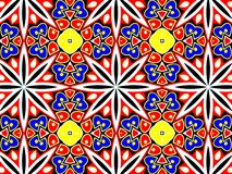 Geometric pattern with many petals. Stock Photo