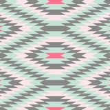 Geometric Pattern Vector Abstract Background. Geometric Pattern mint, grey and pink - Vector pattern Stock Photography