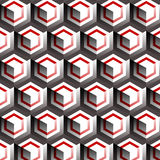 Geometric pattern. In modern style with seamless sample in swatch panel Stock Photo
