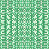 Geometric pattern. Modern stylish geometric floral green and white flower pattern for textile, wallpaper, pattern fills, covers, surface, print, gift wrap Stock Image