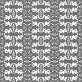 Geometric pattern. Modern stylish geometric gray and white floral flower pattern for textile, wallpaper, pattern fills, covers, surface, print, gift wrap Stock Photography
