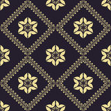 Geometric pattern. Modern stylish seamless geometric floral dark flower pattern for textile, wallpaper, pattern fills, covers, surface, print, gift wrap Stock Image