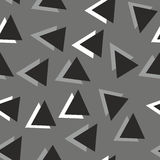 Geometric pattern. Monochrome geometrical pattern with triangle Royalty Free Stock Photography