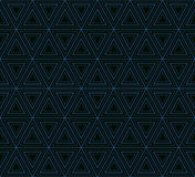 Geometric pattern of nested triangles. Royalty Free Stock Photo