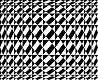 Geometric pattern in op art design  - Vector art Royalty Free Stock Photography