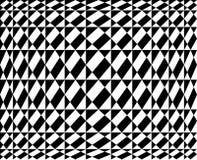 Geometric pattern in op art design  - Vector art Royalty Free Stock Photography