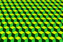 Geometric pattern with optical effect. Royalty Free Stock Photo