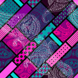 Geometric pattern with paisley Stock Image