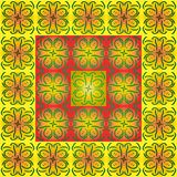 Geometric pattern from the patterns of summer flowers. Summer background for decoration of cards and gift wrapping Royalty Free Stock Image