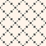 Geometric pattern with perforated squares in diagonal grid. Design Pattern. Geometric Pattern. Vintage Pattern. Monochrome seamless pattern, geometric vector Royalty Free Stock Photo