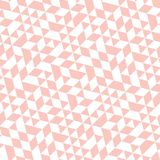 Geometric Seamless Pattern. Geometric pattern with pink and white triangles. Geometric modern ornament. Seamless abstract background Royalty Free Stock Image