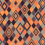 Geometric pattern - rhombus. Geometric pattern, rhombus in brown and orange color stock illustration