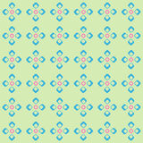 Geometric pattern with rhombuses and squares Stock Photos