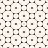 Geometric pattern, rounded grid with small circles. Vector monochrome seamless pattern, subtle geometric texture, rounded grid with small circles Stock Image