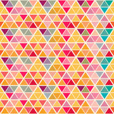 Geometric pattern with saturated colorful triangles. Stock Images