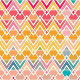Geometric pattern with saturated colorful triangles. Stock Photos