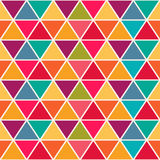 Geometric pattern with saturated colorful triangles. Stock Image