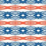 Geometric pattern with Scandinavian ethnic motifs Royalty Free Stock Image
