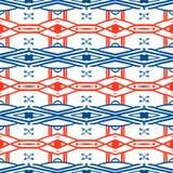 Geometric pattern with Scandinavian ethnic motifs Stock Photography