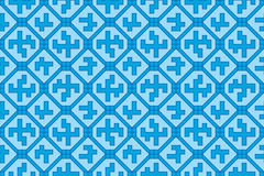 Geometric pattern (seamless) Royalty Free Stock Photography