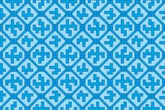 Geometric pattern (seamless). Blue geometric seamless  pattern Royalty Free Stock Photography