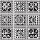 Geometric pattern 25. Seamless abstract geometric decorative background (texture, pattern). Suitable for textile, wallpaper, wrapping, tile, web. Vector Royalty Free Stock Photos