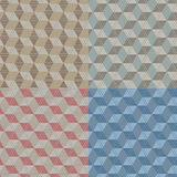 Geometric pattern. Seamless pattern of abstract hexagon Stock Photography