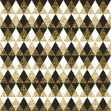 Geometric pattern seamless background Stock Images