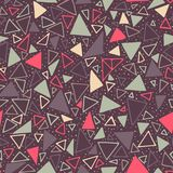 Geometric pattern. Seamless background with triangles and polka dots. Royalty Free Stock Images