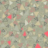 Geometric pattern. Seamless background with triangles and polka dots. Stock Photos