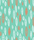 The geometric pattern. Seamless vector background. Pattern with leaf Royalty Free Stock Images