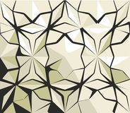 Geometric pattern. Sepia geometric pattern with star Stock Photo