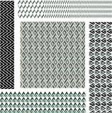 Geometric pattern, set Stock Photo