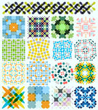 Geometric pattern set Stock Photos