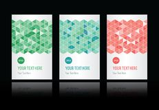 Geometric pattern set of cards stock illustration