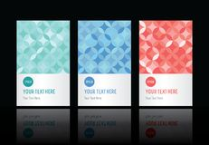 Geometric pattern set of cards Stock Image