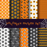 Geometric pattern set, halloween concept Royalty Free Stock Image