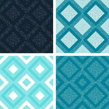 Geometric pattern. Set of seamless tile pattern with dots Royalty Free Stock Photos