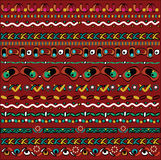 Geometric pattern, a set of small parts on dark red background Stock Photo