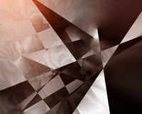 Geometric pattern. With sharp retro lines and vivid highlights stock photography