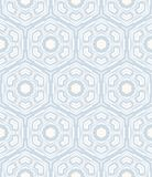 Geometric pattern similar to 50s and 60s design. Hexagon geometric pattern in white and grey colors. Texture for web, print, wallpaper, home decor, spring summer Stock Image