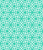 Geometric pattern. Simple elegant linear vector pattern in 1920s style. Modern art deco background with lines and geometric ornament in bright aqua green color Stock Photos