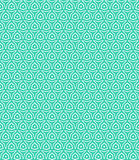Geometric pattern. Simple elegant linear vector pattern in 1920s style. Modern art deco background with lines and geometric ornament in bright aqua green color Stock Photography