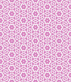Geometric pattern. Simple elegant linear vector pattern in 1920s style. Modern art deco background with lines and geometric ornament in bright pink color Stock Photography